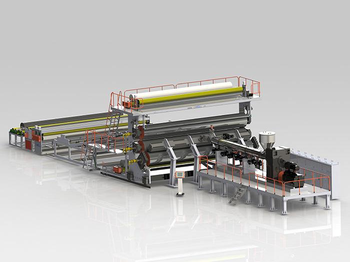 PE防水卷材/土工膜設備生產線